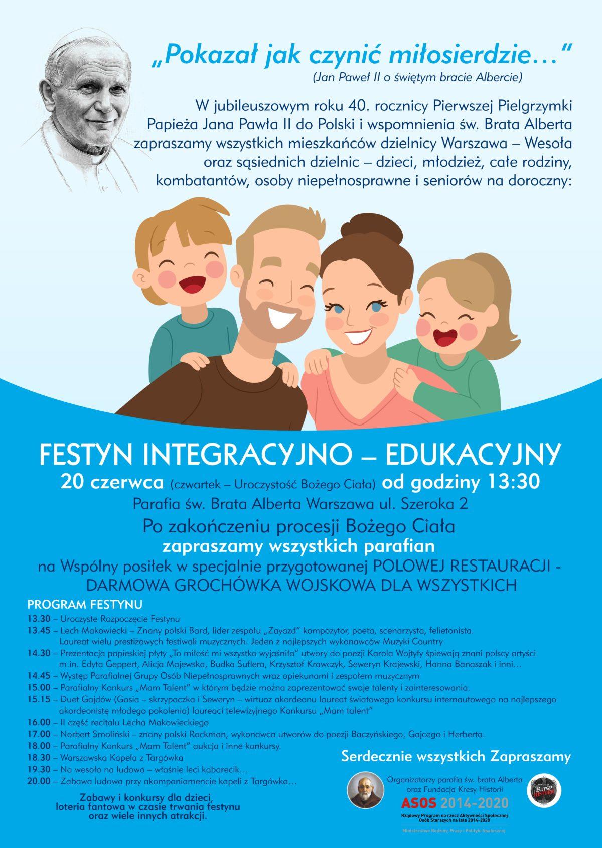 Zapraszamy na festyn festyn integracyjno-edukacyjny
